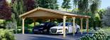 Tettoia auto in legno doppia CLASSIC 6x6 m visualization 6
