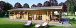 Casa in legno TOSCANA (66 mm) 53 mq + 29 mq di porticato visualization 10