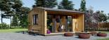 Casetta in legno TINA 5.5x5 m 22 mq + 5.5 mq di porticato visualization 7