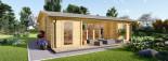 Casa in legno MILA (44 mm) 56 mq visualization 7