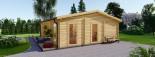 Casa in legno MILA (44 mm) 56 mq visualization 3