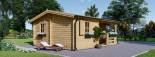 Casa in legno coibentata NANTES 24 mq + 3.45 mq di porticato visualization 4
