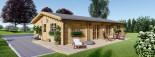 Casa in legno coibentata LIMOGES 103 mq visualization 2