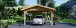 Tettoia auto in legno 5.5x4.2 m visualization 7
