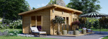 Casa in legno MAJA (66 mm) 7.5x4 m 30 mq visualization 7