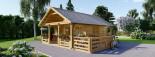 Casa in legno coibentata ANGERS 36 mq + terrazza 19 mq  visualization 4