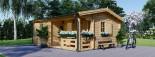 Casa in legno coibentata NANTES 24 mq + 3.45 mq di porticato visualization 1