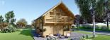 Casa in legno coibentata LANGON 95 mq con 2 balconi visualization 4
