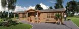 Casa in legno coibentata DONNA 63 mq + 11.5 mq di porticato visualization 7