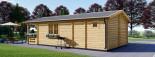 Casa in legno coibentata ARGO 35 mq + 8 mq di porticato visualization 4