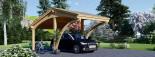 Tettoia auto in legno CORA 3x5.9 m visualization 1