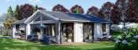 Casa in legno coibentata ADELE 68 mq visualization 2