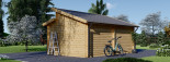 Garage in legno TWIN (44 mm) 4x6 m  visualization 4