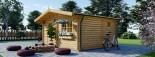Casa in legno NINA due stanze (44 mm) 6x6 m 36 mq visualization 4