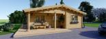 Casa in legno coibentata LINDA 78 mq + terrazza 38 mq  visualization 7
