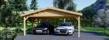Tettoia auto in legno doppia CLASSIC 6x6 m visualization 7