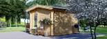 Casetta in legno coibentata POOLHOUSE 4x3 m 12 mq visualization 5