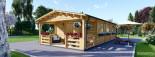 Casa in legno HYMER (66 mm) 42 mq + 10 mq di porticato visualization 1