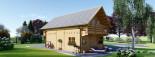 Casa in legno coibentata LANGON 95 mq con 2 balconi visualization 5