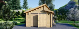 Garage in legno TWIN (44 mm) 4x6 m  visualization 7