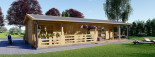 Casa in legno TOSCANA (66 mm) 53 mq + 29 mq di porticato visualization 8