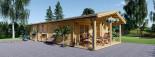 Casa in legno LINCOLN (66 mm) 60 mq + 10 mq di porticato visualization 8