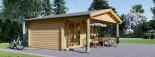 Casetta da giardino CAMILA (66 mm) 6x4 m 24 mq + 11 mq di porticato visualization 5