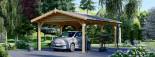 Tettoia auto in legno 5.5x4.2 m visualization 1