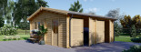 Garage in legno doppio ALTERNATIVE (44 mm) 6x6 m visualization 2