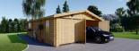 Garage in legno doppio (44 mm) 6x9 m visualization 2