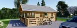 Casa in legno coibentata ANGERS 36 mq + terrazza 19 mq  visualization 5