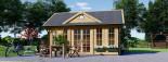 Casetta da giardino coibentata CLOCKHOUSE 5.5x4 m 22 mq visualization 2