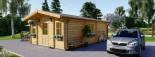 Casa in legno DIJON (44 mm) 44 mq visualization 5