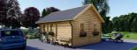 Casa in legno coibentata SCOOT 27 mq + 10 mq di mezzanino visualization 6
