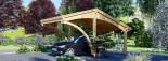 Tettoia auto in legno CORA 3x5.9 m visualization 5