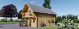 Casa in legno coibentata LANGON 95 mq con 2 balconi visualization 6