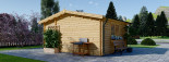 Casetta da giardino due stanze NINA (44 mm) 5x5 m 25 mq visualization 6
