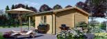 Casetta da giardino CAMILA (44 mm) 6x4 m 24 mq + 11 mq di porticato visualization 7