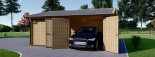 Garage in legno doppio ALTERNATIVE (44 mm) 6x6 m visualization 3