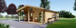 Casa in legno LINCOLN (66 mm) 60 mq + 10 mq di porticato visualization 2