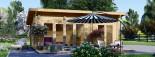 Casa in legno MAJA (66 mm) 7.5x4 m 30 mq visualization 2
