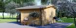 Casetta da giardino BENINGTON (34 mm) 4.5x3 m 13.5 mq visualization 4