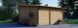 Casetta da giardino HELEN (44 mm) 24 mq + terrazza 12.5 mq visualization 5