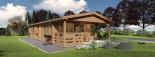 Casa in legno coibentata DONNA 63 mq + 11.5 mq di porticato visualization 5