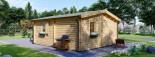 Casa in legno coibentata NANTES 24 mq + 3.45 mq di porticato visualization 5