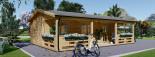 Casa in legno AMELIA (44 mm) 32 mq + 20 mq di porticato visualization 4