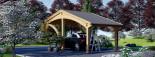 Tettoia auto in legno CORA 3x5.9 m visualization 4