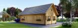 Casa in legno EMMA (66 mm) 83 mq visualization 5