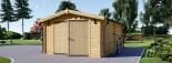 Garage in legno (44 mm) 4x6 m  visualization 4