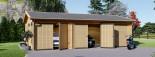 Garage in legno triplo (44 mm) 9x6 m  visualization 3